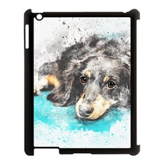 Dog Animal Art Abstract Watercolor Apple Ipad 3/4 Case (black)