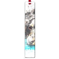 Dog Animal Art Abstract Watercolor Large Book Marks