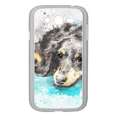 Dog Animal Art Abstract Watercolor Samsung Galaxy Grand Duos I9082 Case (white)