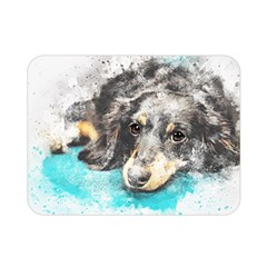 Dog Animal Art Abstract Watercolor Double Sided Flano Blanket (mini)