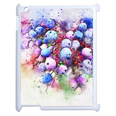 Berries Pink Blue Art Abstract Apple Ipad 2 Case (white)