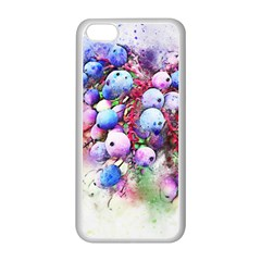 Berries Pink Blue Art Abstract Apple Iphone 5c Seamless Case (white)