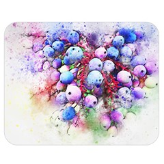 Berries Pink Blue Art Abstract Double Sided Flano Blanket (medium)