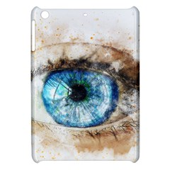 Eye Blue Girl Art Abstract Apple Ipad Mini Hardshell Case