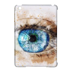Eye Blue Girl Art Abstract Apple Ipad Mini Hardshell Case (compatible With Smart Cover)