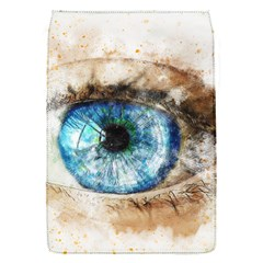 Eye Blue Girl Art Abstract Flap Covers (s)
