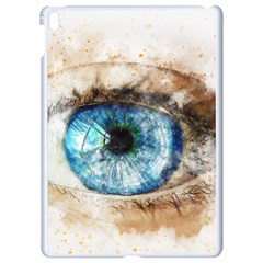 Eye Blue Girl Art Abstract Apple Ipad Pro 9 7   White Seamless Case