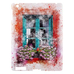 Window Flowers Nature Art Abstract Apple Ipad 3/4 Hardshell Case