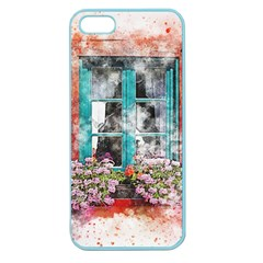 Window Flowers Nature Art Abstract Apple Seamless Iphone 5 Case (color)