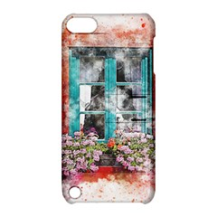 Window Flowers Nature Art Abstract Apple Ipod Touch 5 Hardshell Case With Stand