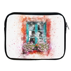 Window Flowers Nature Art Abstract Apple Ipad 2/3/4 Zipper Cases
