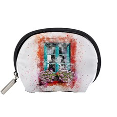 Window Flowers Nature Art Abstract Accessory Pouches (small)