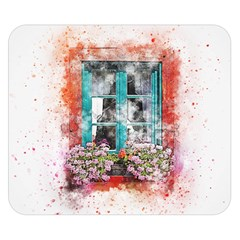 Window Flowers Nature Art Abstract Double Sided Flano Blanket (small)