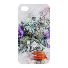 Flowers Bouquet Art Abstract Apple Iphone 4/4s Hardshell Case