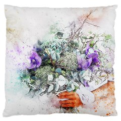 Flowers Bouquet Art Abstract Standard Flano Cushion Case (two Sides)
