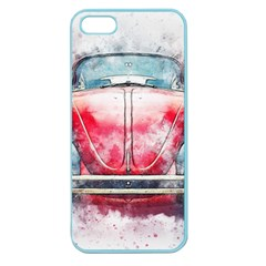 Red Car Old Car Art Abstract Apple Seamless Iphone 5 Case (color)