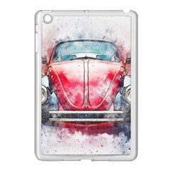 Red Car Old Car Art Abstract Apple Ipad Mini Case (white)
