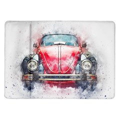 Red Car Old Car Art Abstract Samsung Galaxy Tab 10 1  P7500 Flip Case