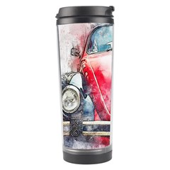 Red Car Old Car Art Abstract Travel Tumbler