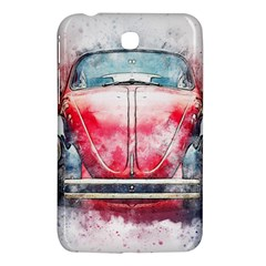 Red Car Old Car Art Abstract Samsung Galaxy Tab 3 (7 ) P3200 Hardshell Case
