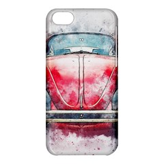 Red Car Old Car Art Abstract Apple Iphone 5c Hardshell Case