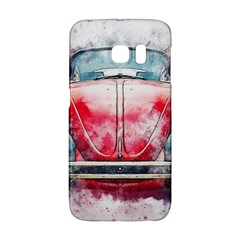 Red Car Old Car Art Abstract Galaxy S6 Edge