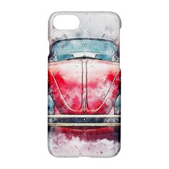 Red Car Old Car Art Abstract Apple Iphone 8 Hardshell Case