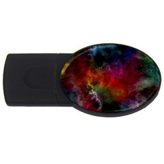Abstract Picture Pattern Galaxy Usb Flash Drive Oval (4 Gb)