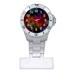 Abstract Picture Pattern Galaxy Plastic Nurses Watch
