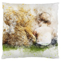 Bear Baby Sitting Art Abstract Large Cushion Case (one Side)