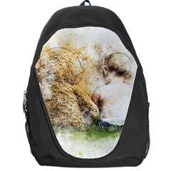 Bear Baby Sitting Art Abstract Backpack Bag