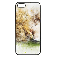 Bear Baby Sitting Art Abstract Apple Iphone 5 Seamless Case (black)