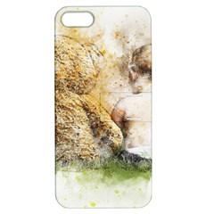 Bear Baby Sitting Art Abstract Apple Iphone 5 Hardshell Case With Stand