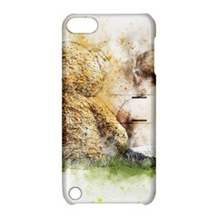 Bear Baby Sitting Art Abstract Apple Ipod Touch 5 Hardshell Case With Stand