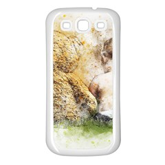 Bear Baby Sitting Art Abstract Samsung Galaxy S3 Back Case (white)