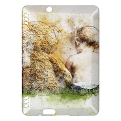 Bear Baby Sitting Art Abstract Kindle Fire Hdx Hardshell Case
