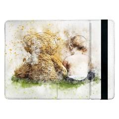 Bear Baby Sitting Art Abstract Samsung Galaxy Tab Pro 12 2  Flip Case