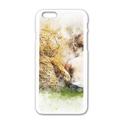 Bear Baby Sitting Art Abstract Apple Iphone 6/6s White Enamel Case