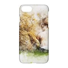 Bear Baby Sitting Art Abstract Apple Iphone 8 Hardshell Case