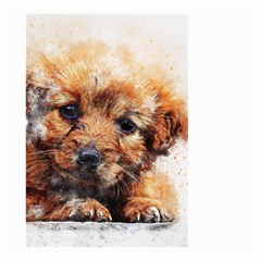 Dog Puppy Animal Art Abstract Small Garden Flag (two Sides)