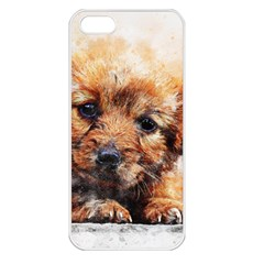 Dog Puppy Animal Art Abstract Apple Iphone 5 Seamless Case (white)