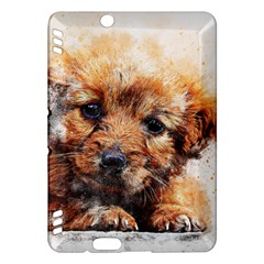Dog Puppy Animal Art Abstract Kindle Fire Hdx Hardshell Case