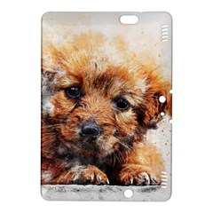 Dog Puppy Animal Art Abstract Kindle Fire Hdx 8 9  Hardshell Case