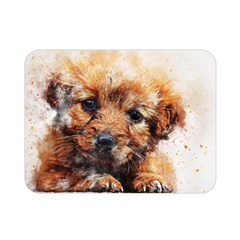 Dog Puppy Animal Art Abstract Double Sided Flano Blanket (mini)