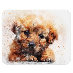 Dog Puppy Animal Art Abstract Double Sided Flano Blanket (medium)