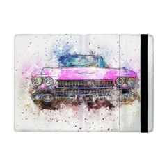 Pink Car Old Art Abstract Apple Ipad Mini Flip Case