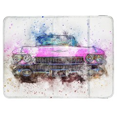 Pink Car Old Art Abstract Samsung Galaxy Tab 7  P1000 Flip Case