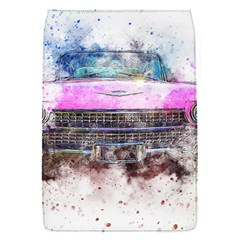 Pink Car Old Art Abstract Flap Covers (s)