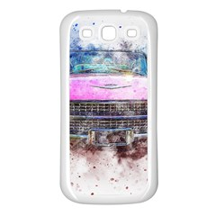 Pink Car Old Art Abstract Samsung Galaxy S3 Back Case (white)