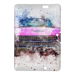Pink Car Old Art Abstract Kindle Fire Hdx 8 9  Hardshell Case